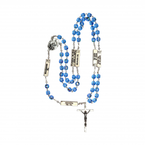 Mysteries Rosary Beads Blue