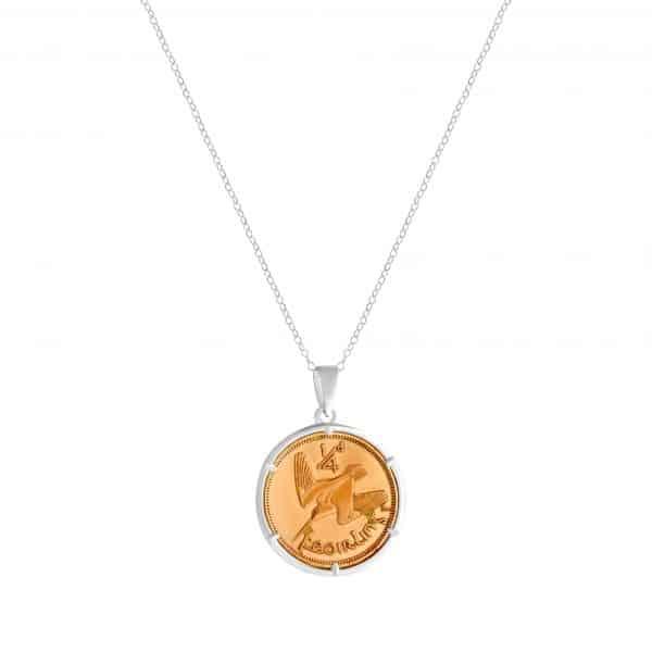 Irish Farthing Coin Pendant