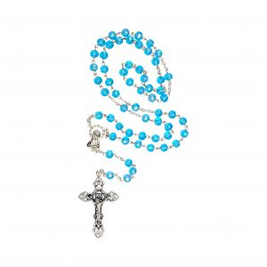Aqua Rosary Beads