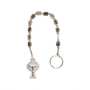 Connemara Marble Rosary Keychain