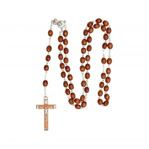 Wooden Irish Rosary Beads