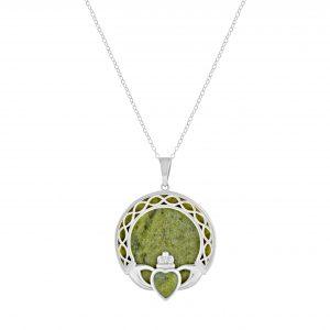 Claddagh Connemara Marble Pendant