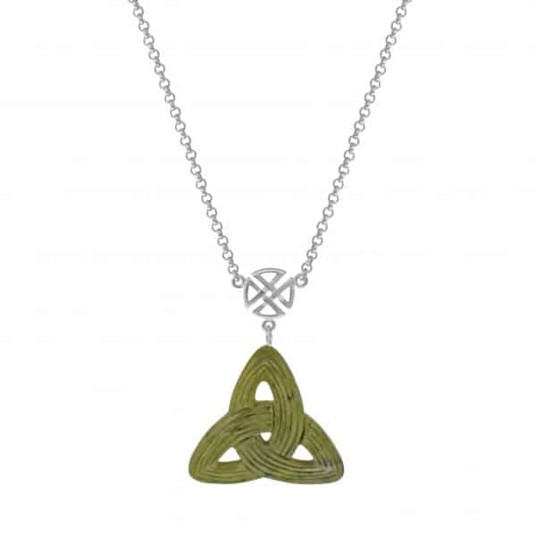 Celtic Trinity Knot with Sterling Silver Chain