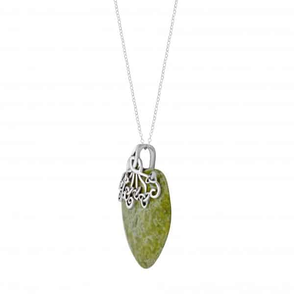 Trinity Connemara Marble Heart Pendant