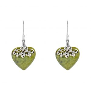 Trinity Marble Heart Earrings