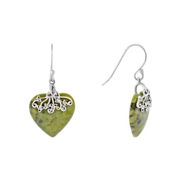 Trinity Marble Heart Earrings