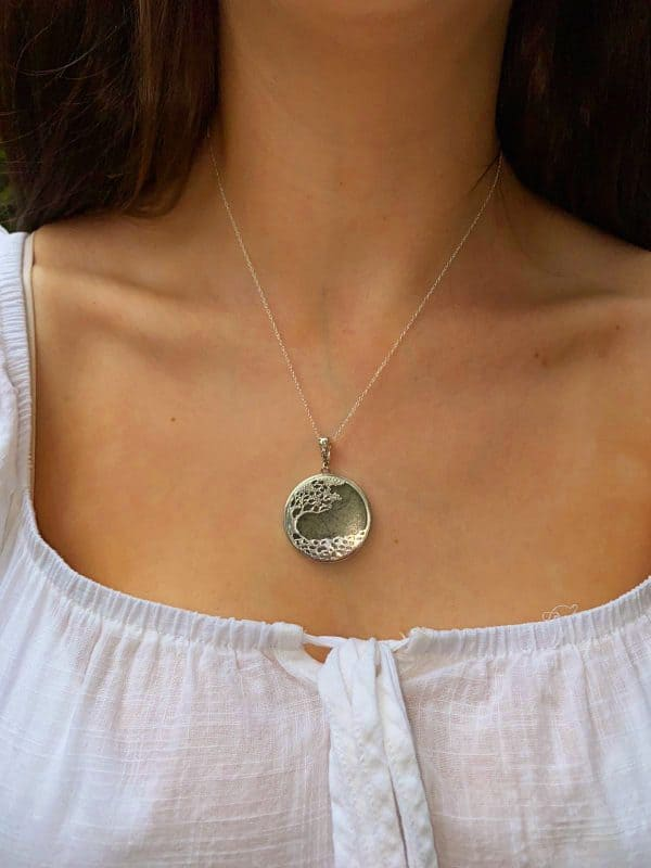 Tree of Life Connemara Marble with sterling silver Pendant