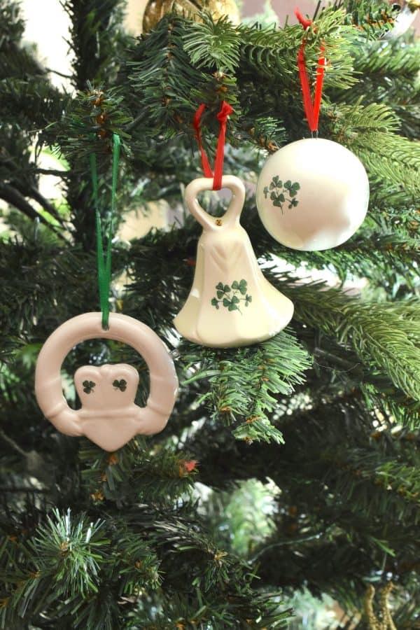 Christmas Shamrock Decorations Set of 3