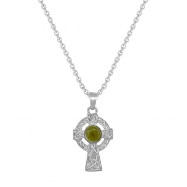 Rhodium Plated Celtic Cross
