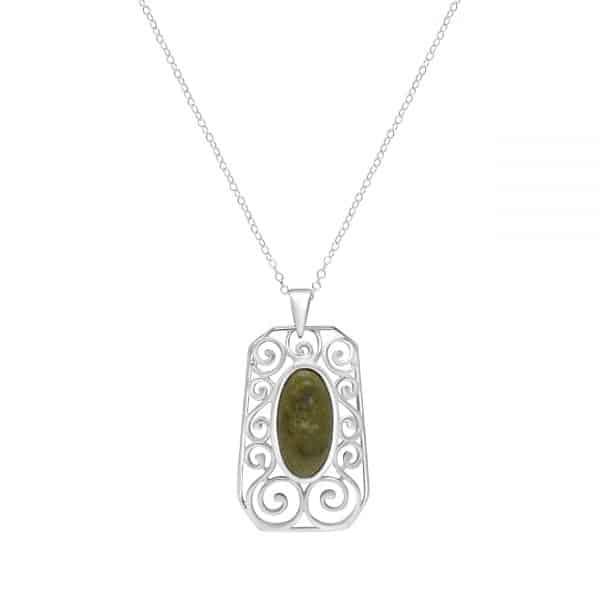 Celtic Swirl Connemara Marble Pendant