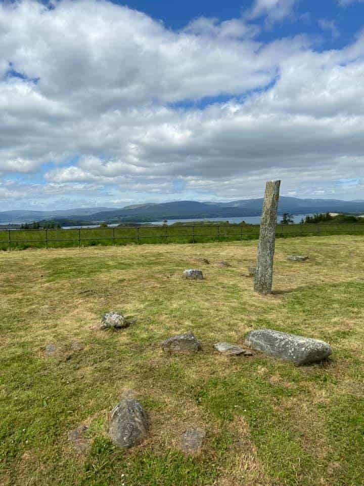 Kilnaurane stone pillar Connemara Marble