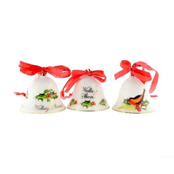 Christmas Tree Decoration Set of 3 Bells from Ireland