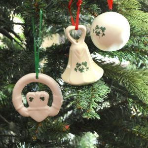 Christmas Tree Decorations with Irish Shamrock