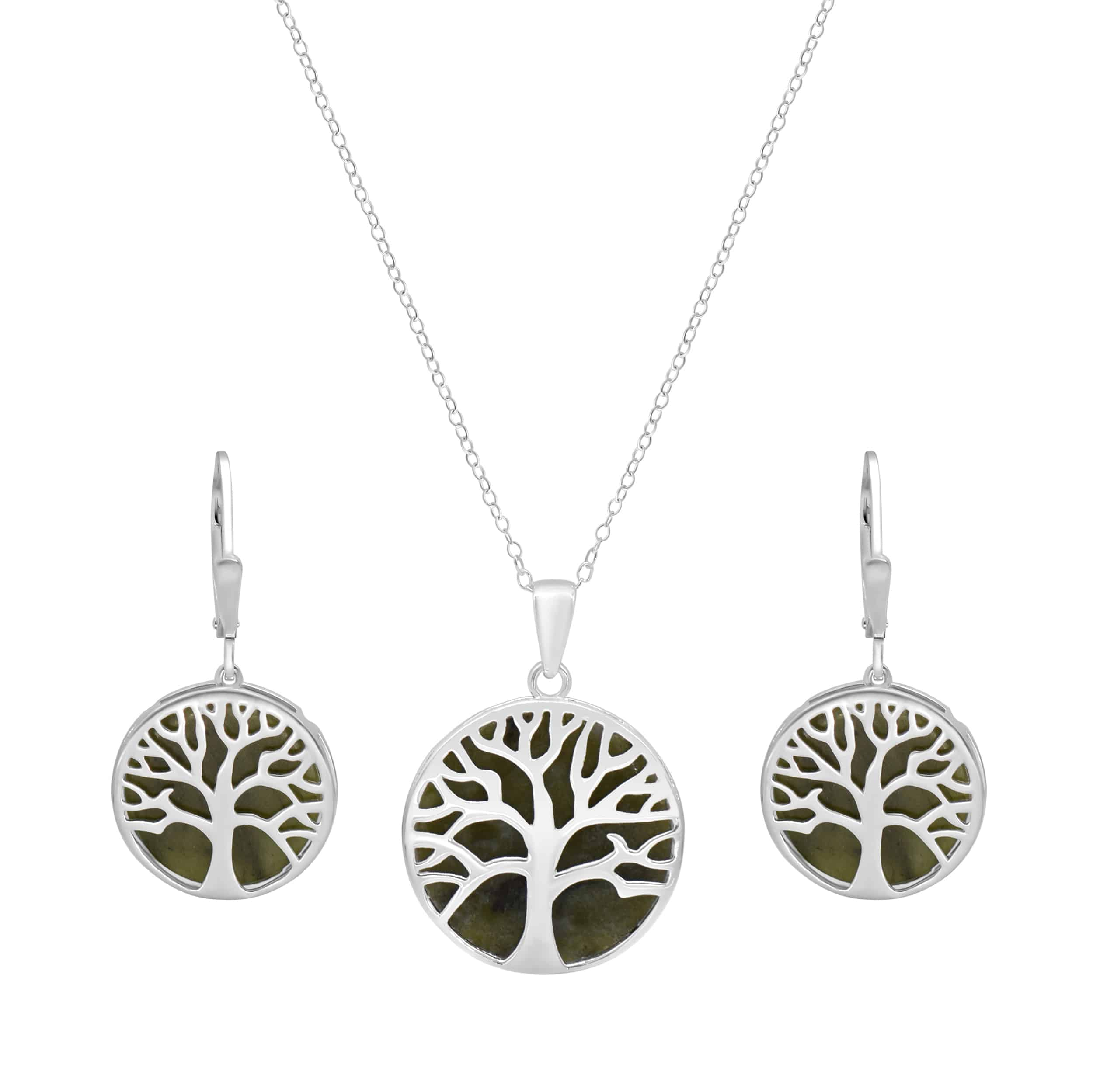 Tree of Life Pendant with Earrings