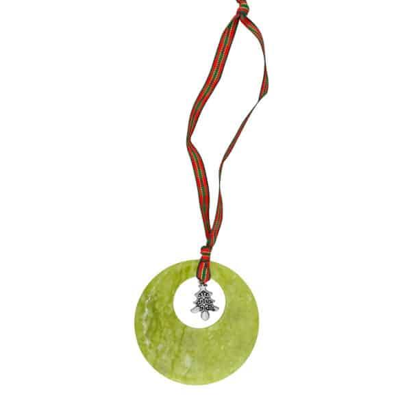 Christmas Tree Connemara Marble Decoration