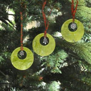 Handmade Connemara Marble Christmas Decoration Set of 3