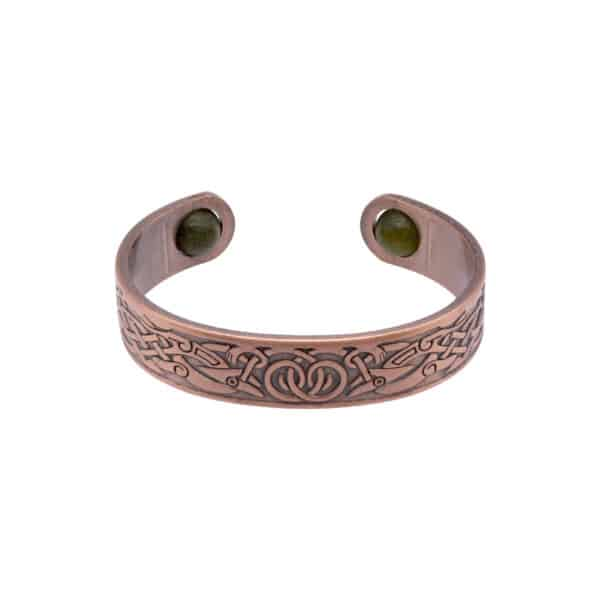Celtic Copper Bangle with Connemara Marble