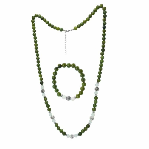 Newgrange Gemstone Necklace with Bracelet