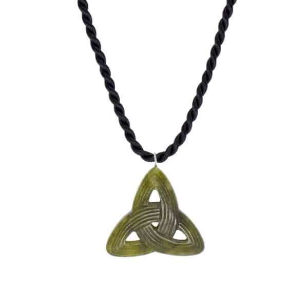 Trinity Knot Connemara Marble Necklace.