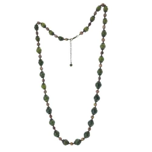Connemara Marble Vintage 32″ Gemstone Necklace
