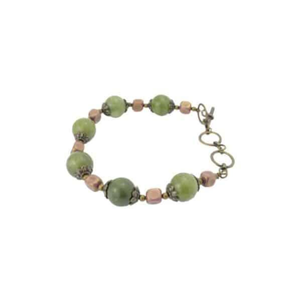 Vintage Connemara Marble Bracelet